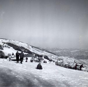 Il monte Gropà arrivo della vecchia seggiovia